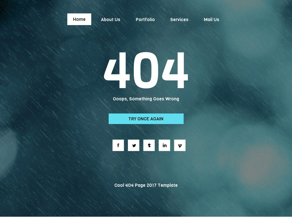 Cool 404 Page - 404