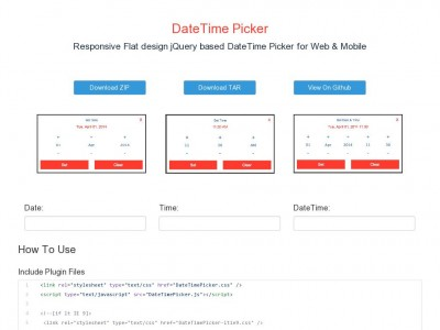 jQuery DateTime Picker