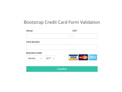 Bootstrap Credit Card Form Validation