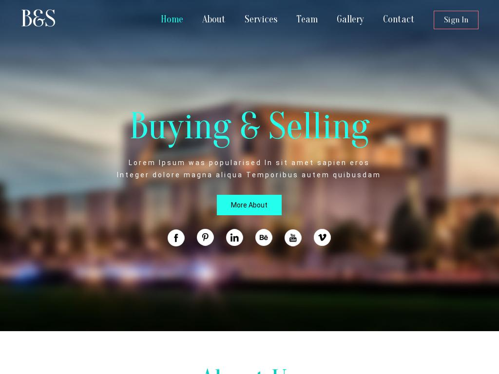 Buying & Selling - Лендинг