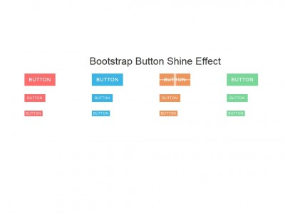 Bootstrap Button Shine Effect