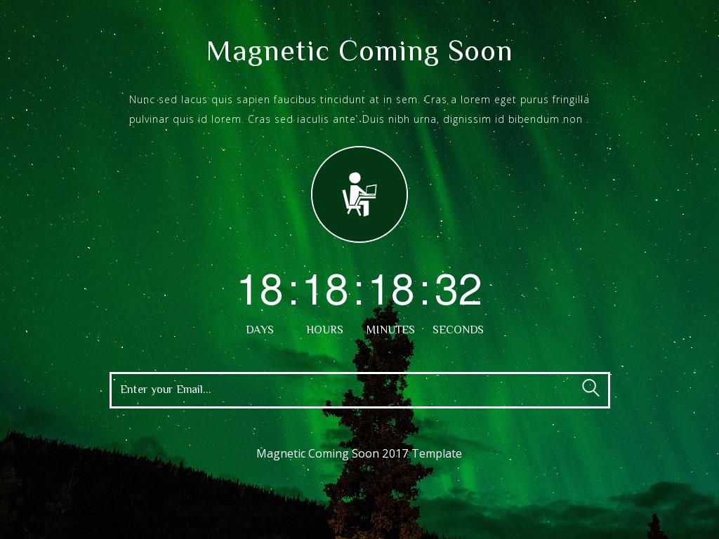 Magnetic Coming Soon - Заглушка