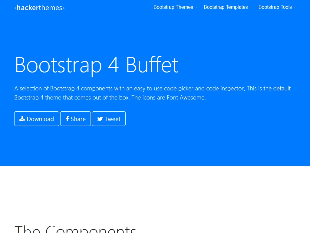 Bootstrap 4 Theme Machine - Дизайн