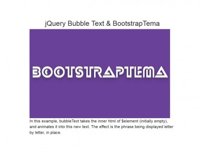 jQuery Bubble Text