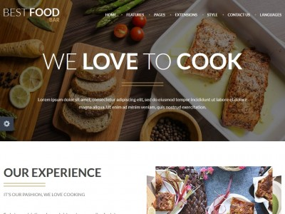 Best Food Bar - Joomla