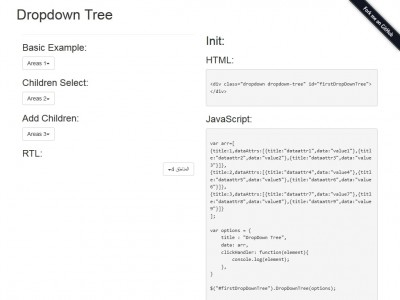 Dropdown Tree