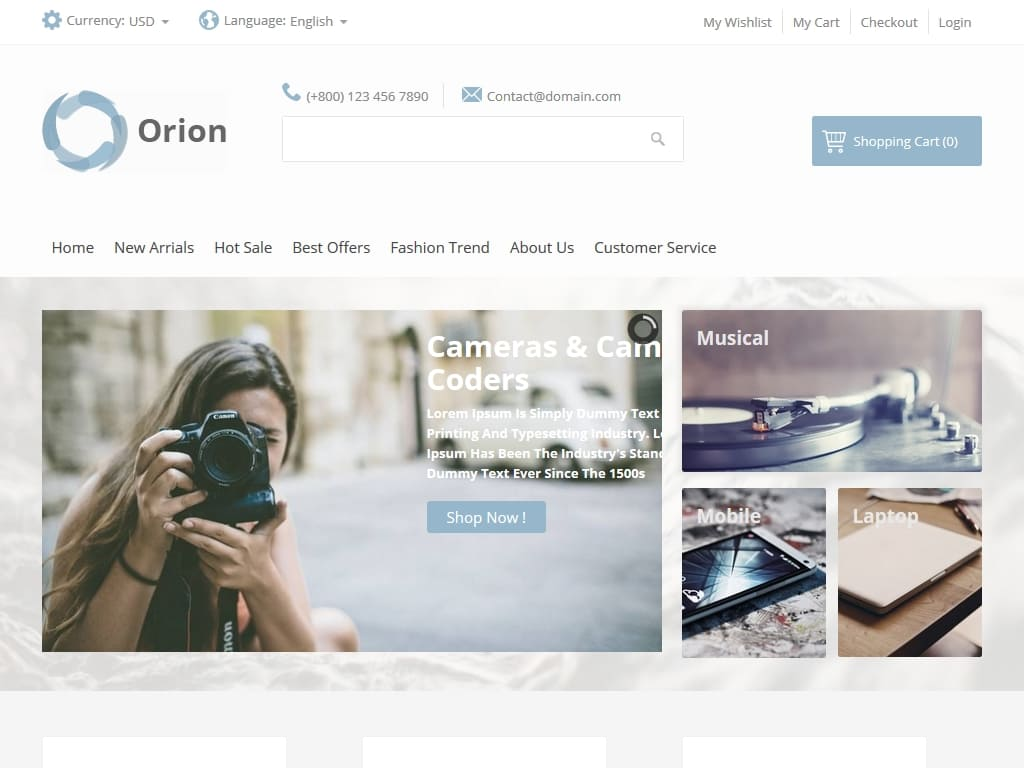 Orion - Joomla - Премиум