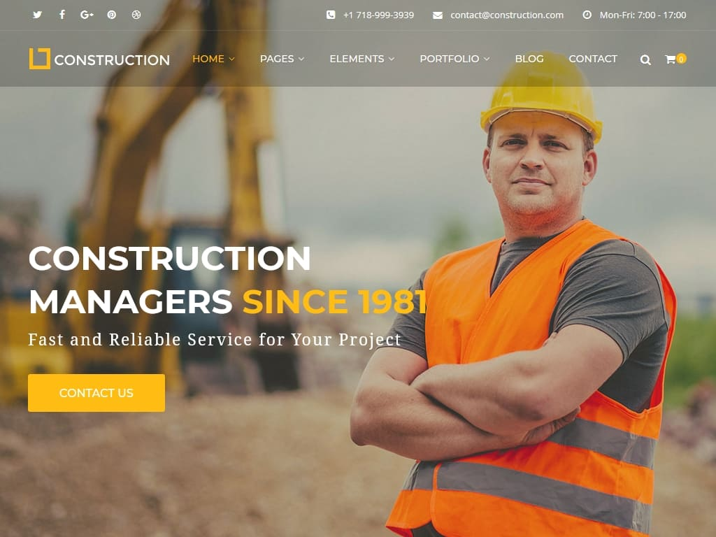 Construction - WordPress - Премиум