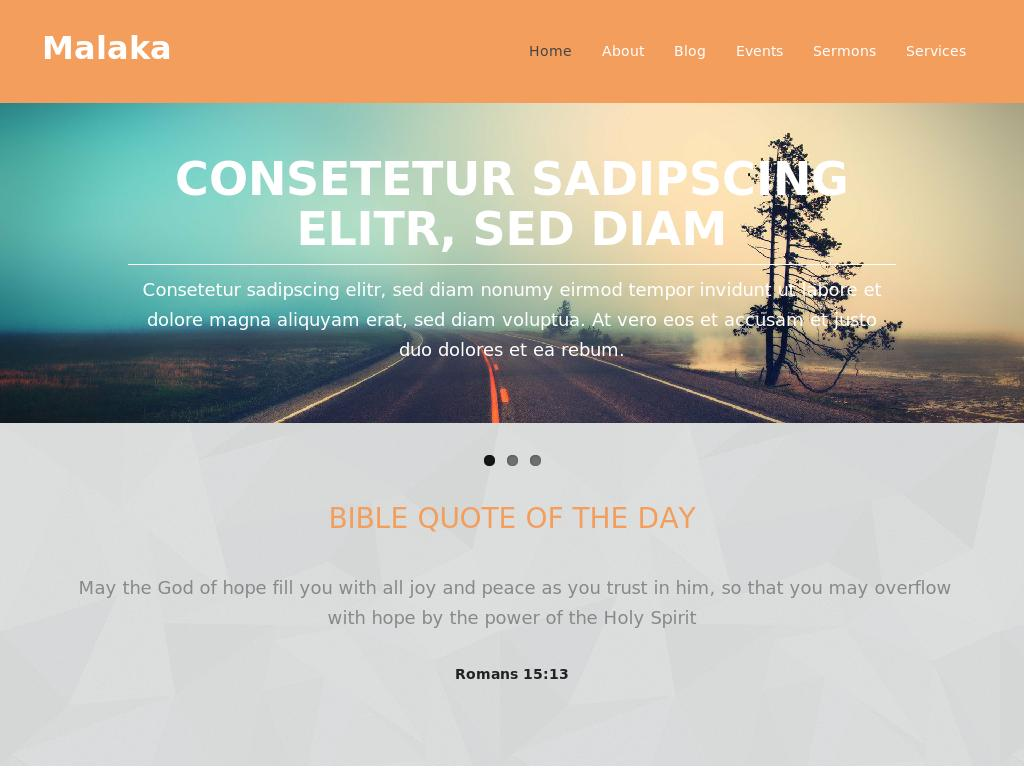 Malaka - WordPress - Блог