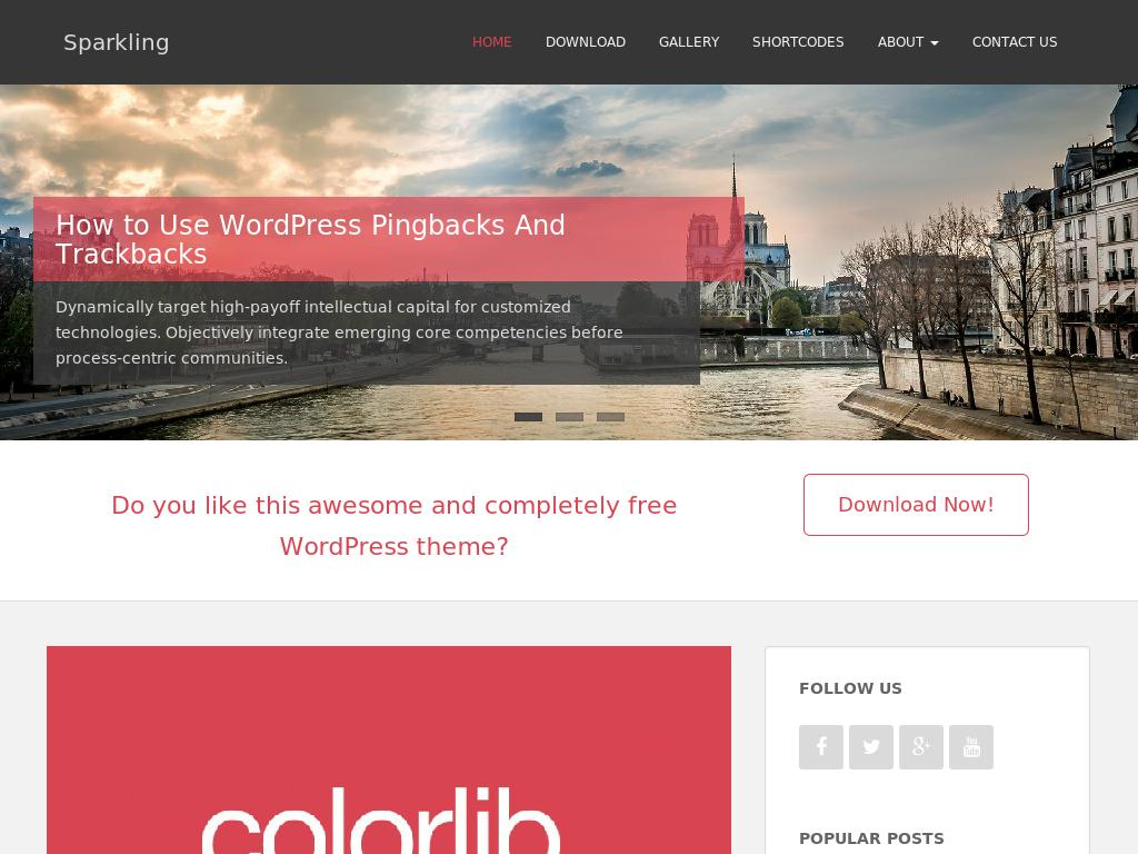 Sparkling - WordPress