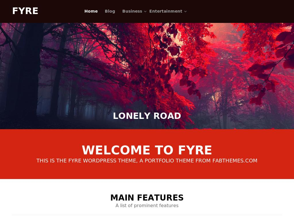 Fyre - WordPress