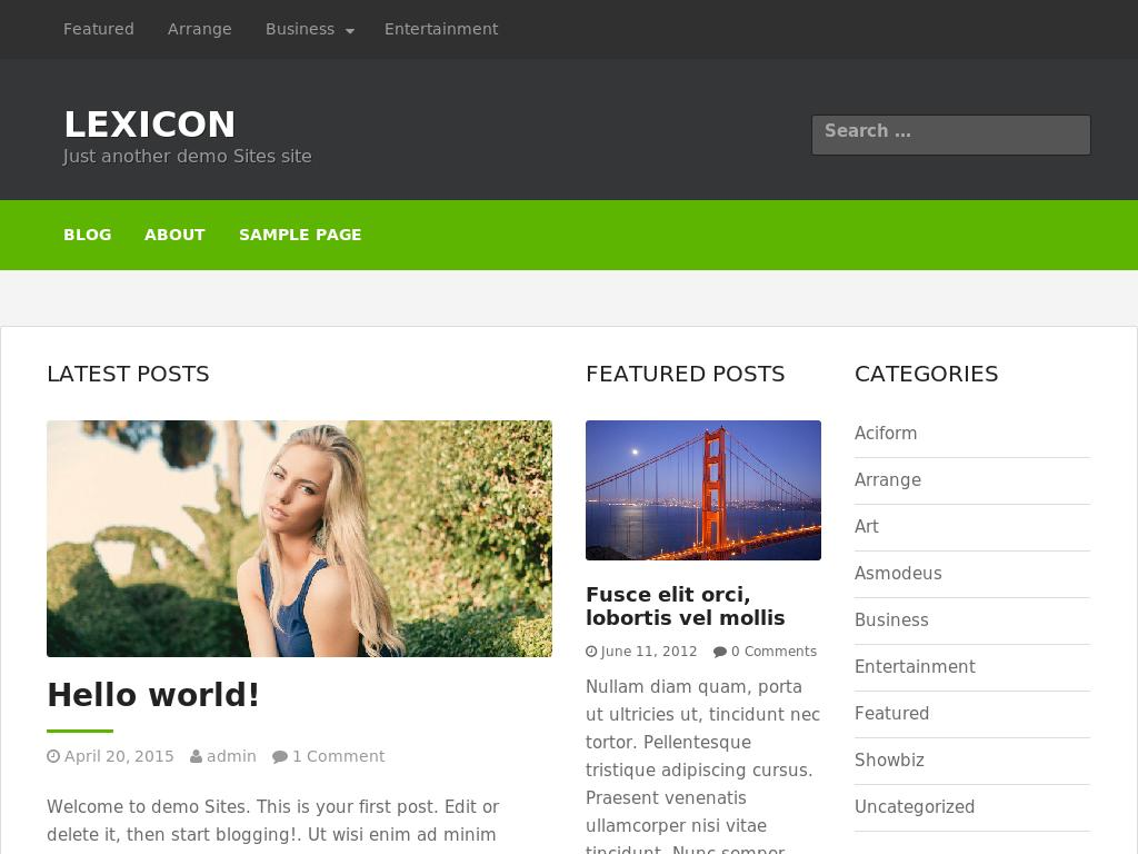 Lexicon - WordPress - Блог