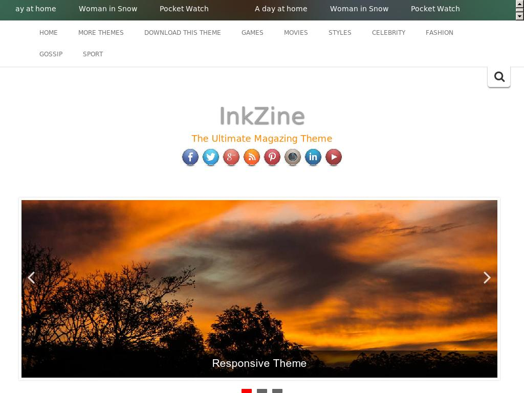InkZine - WordPress - Блог