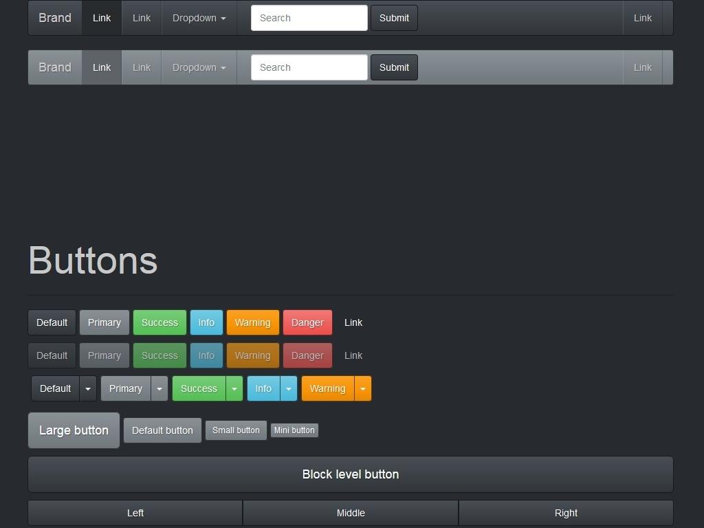 Красивый стиль Slate для Bootstrap 3