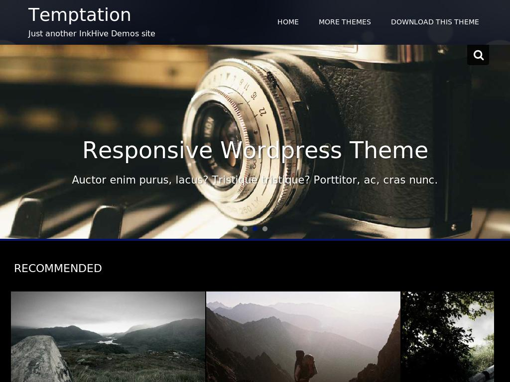 Temptation - WordPress - Портфолио