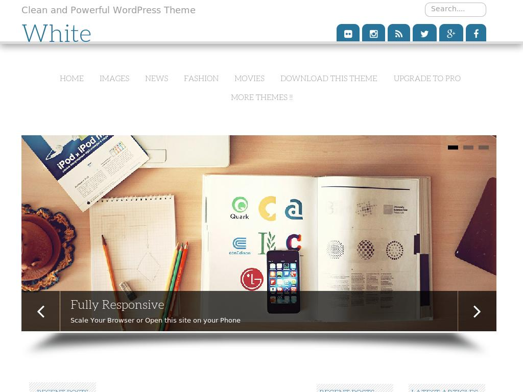 White - WordPress - Блог