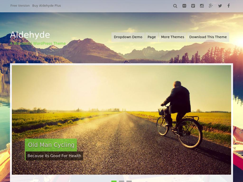 Aldehyde - WordPress - Блог