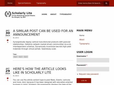 Scholarly Lite - Drupal