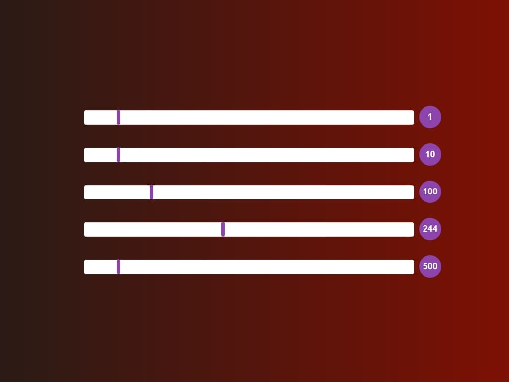 Range Slider Style Bootstrap & jQuery - Элементы