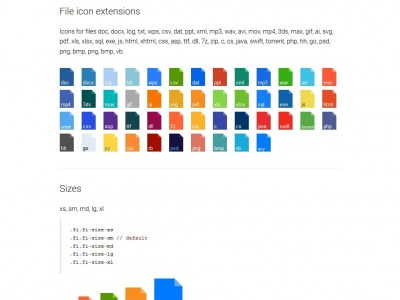 CSS file icons