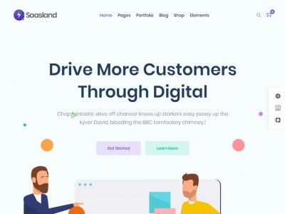 Saasland - WordPress