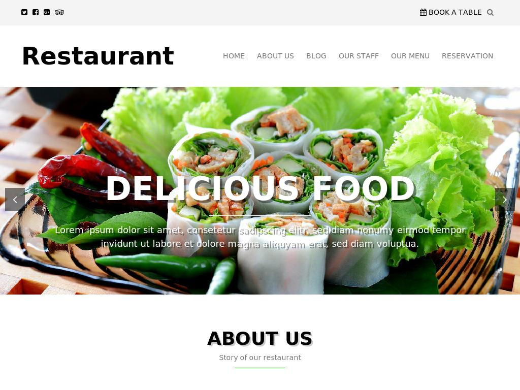 Restaurant - WordPress - Портфолио