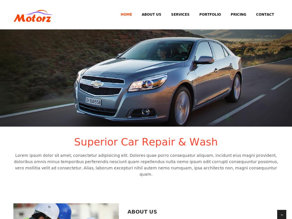 Car Repair and Wash - Портфолио