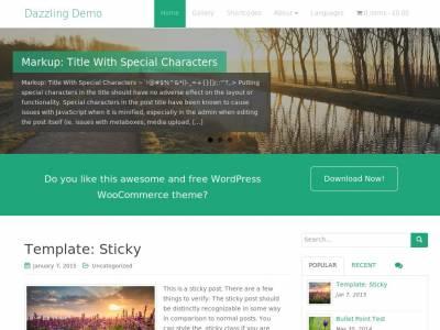 Dazzling - WordPress
