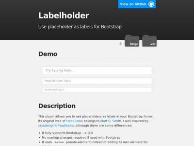 Labelholder