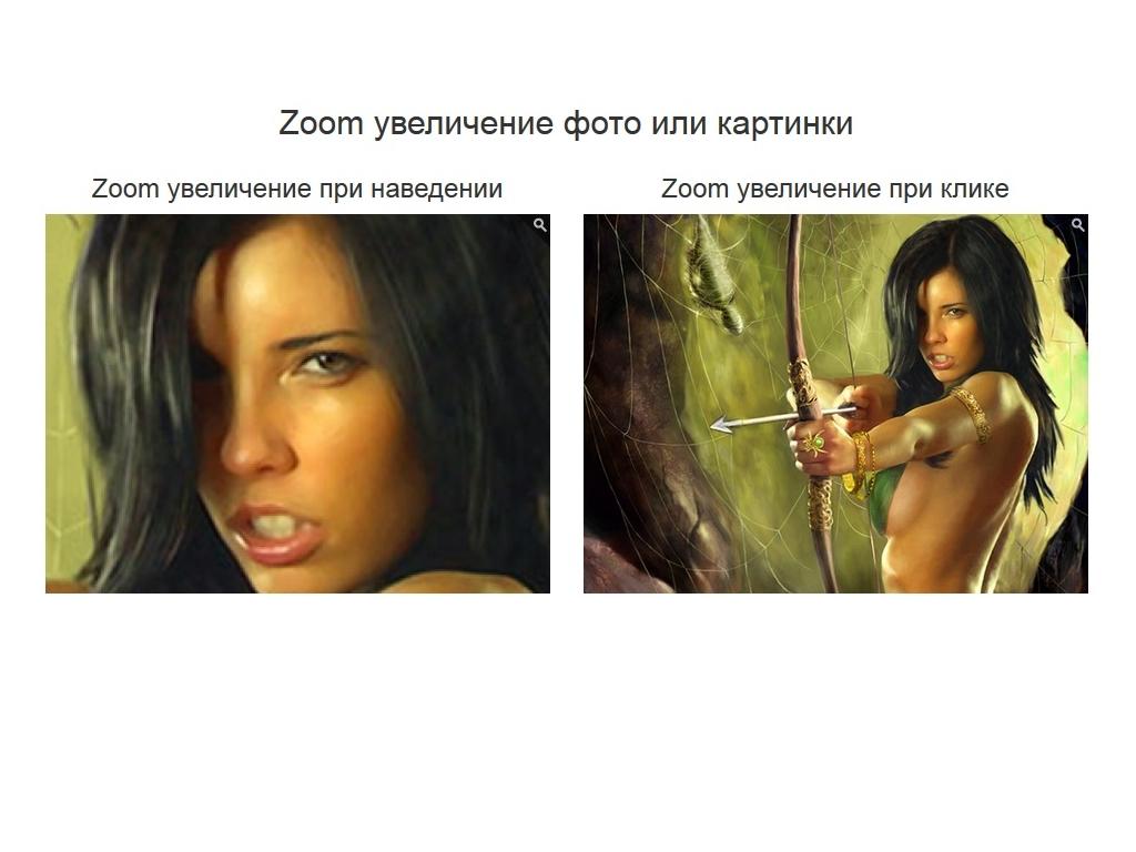 Zoom увеличение картинки или фото