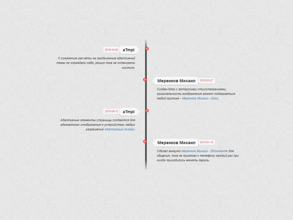 Timeline Light Style - Элементы