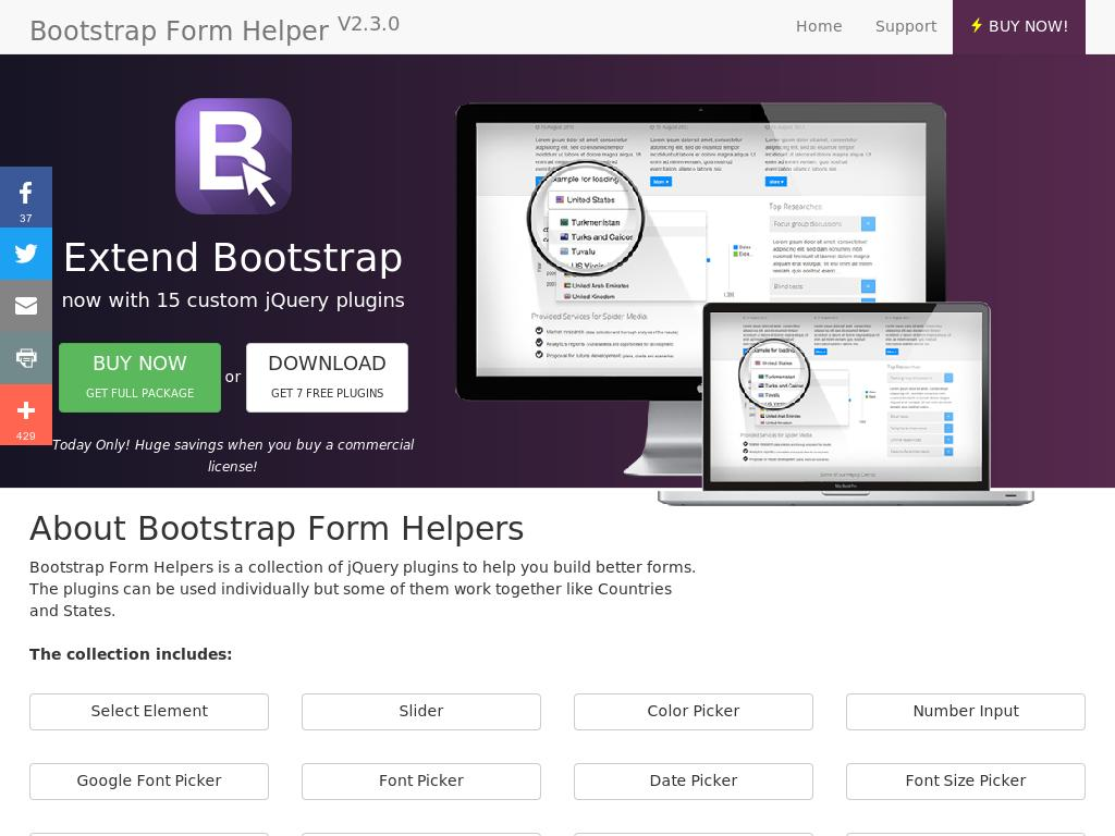 Bootstrap Form Helper