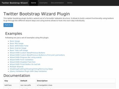 Bootstrap Wizard