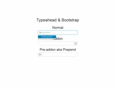 Typeahead & Bootstrap