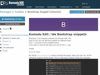 Komodo Edit Bootstrap
