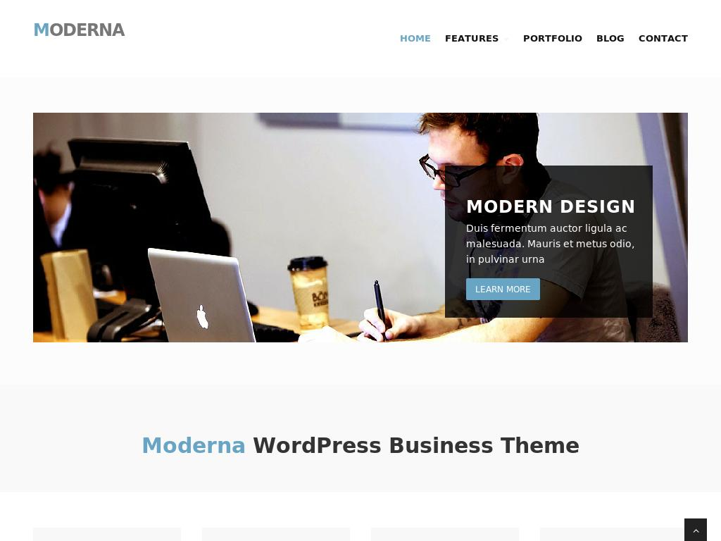 ModernaWP - WordPress
