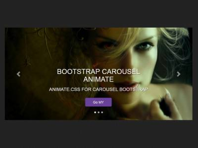 Bootstrap Carousel Animate Effect